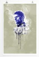 Jaime Lannister 90x60cm Paul Sinus Art Splash Art Wandbild als Poster ohne Rahmen gerollt