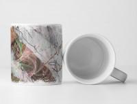 Tasse Geschenk Mamoroptik + Farbensplash