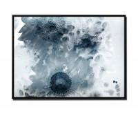 105x75cm Leinwandbild Petrol Malerei Blüten Sonnenblume