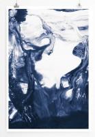 60x90cm Poster Naturfotografie – Blaues Wasser in Bewegung