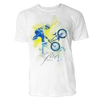 BMX Rad X-up Sinus Art ® T-Shirt Crewneck Tee with Frontartwork