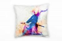Schwertkunst Deko Kissen Bezug 40x40cm für Couch Sofa Lounge Zierkissen