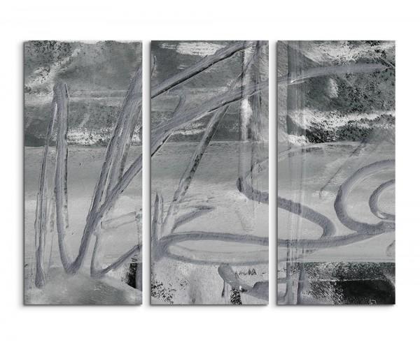 130x90cm Wandbild Abstrakt 508 -3x90x40cm