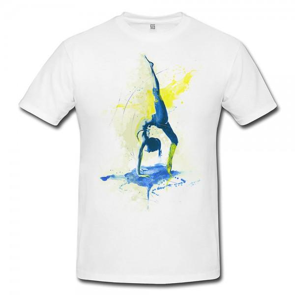 Yoga I Premium Herren und Damen T-Shirt Motiv aus Paul Sinus Aquarell