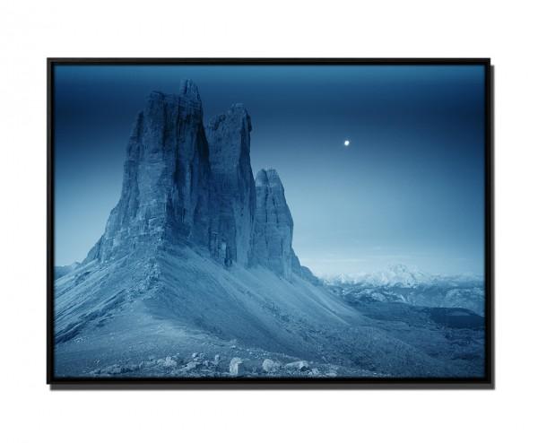 105x75cm Leinwandbild Petrol Gebirge Drei Zinnen Italien