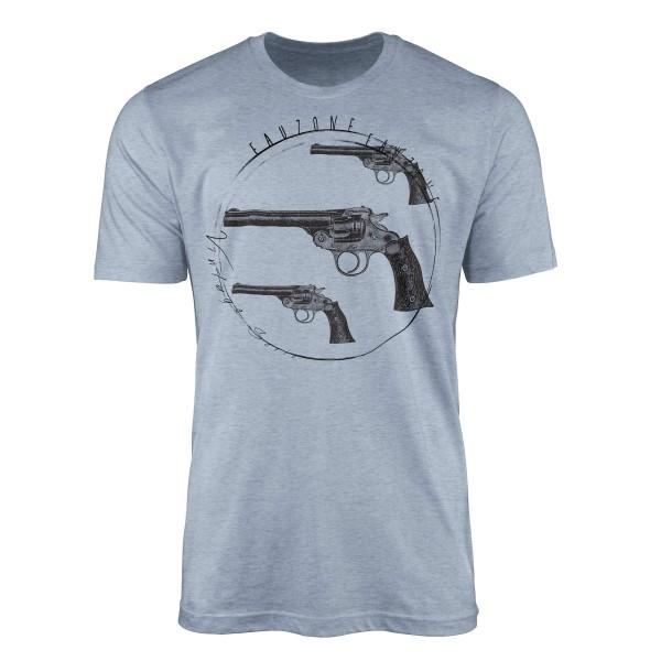 Vintage Herren T-Shirt Pistolen