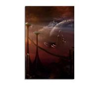 Futuristic City Planet Fantasy Art 90x60cm