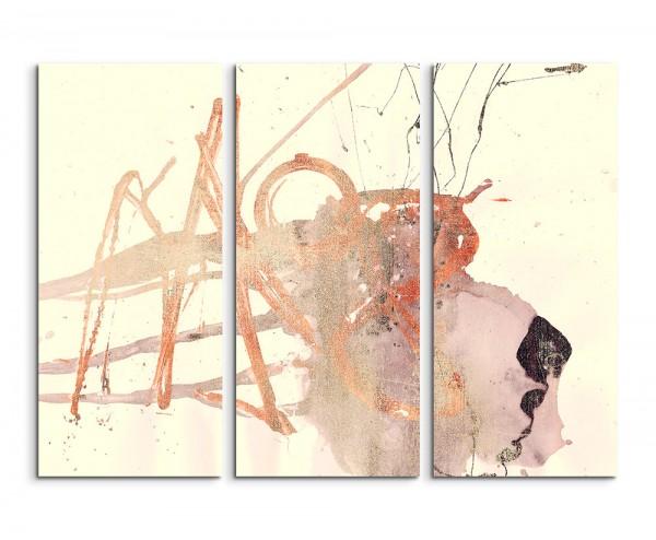 130x90cm Wandbild Abstrakt 502 -3x90x40cm