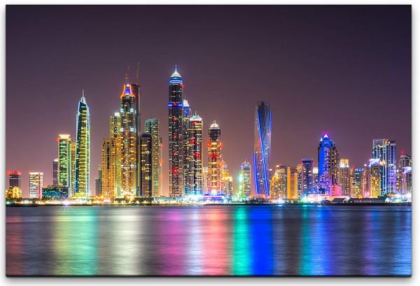 Skyline von Dubai Wandbild in verschiedenen Größen