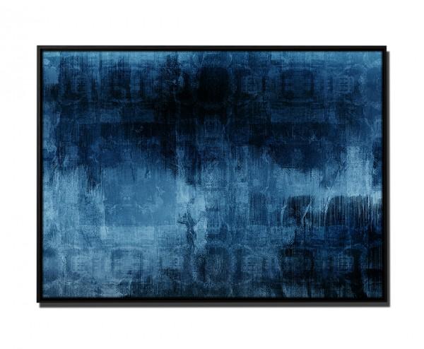 105x75cm Leinwandbild Petrol Abstrakt Acryl mit Pinsel III