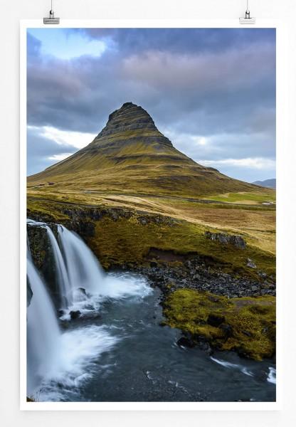 Landschaftsfotografie – Kirkjufell in Island 60x90cm Poster