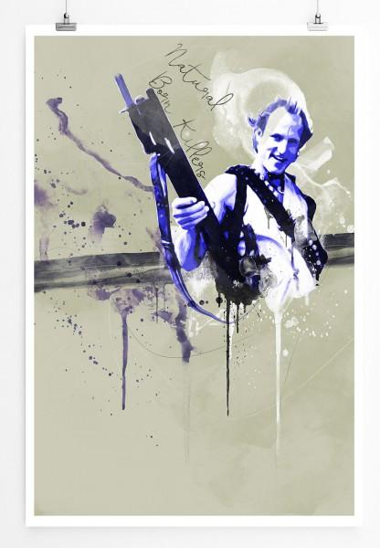 Natural Born Killers II 90x60cm Paul Sinus Art Splash Art Wandbild als Poster ohne Rahmen gerollt