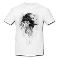 Winona Ryder Herren und Damen T-Shirt BLACK-WHITE