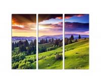130x90cm majestätischer Sonnenuntergang Berge Karpaten