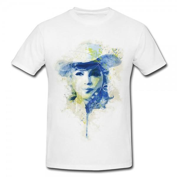 Marilyn Monroe VI Premium Herren und Damen T-Shirt Motiv aus Paul Sinus Aquarell