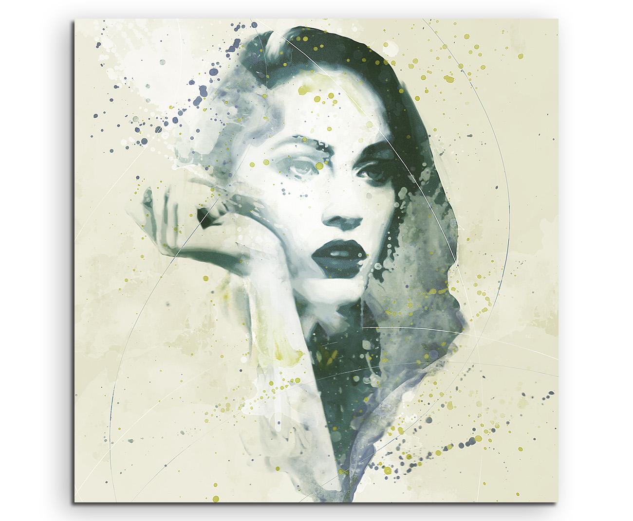 Megan Fox II Aqua 90x60cm Wandbild Aquarell Art
