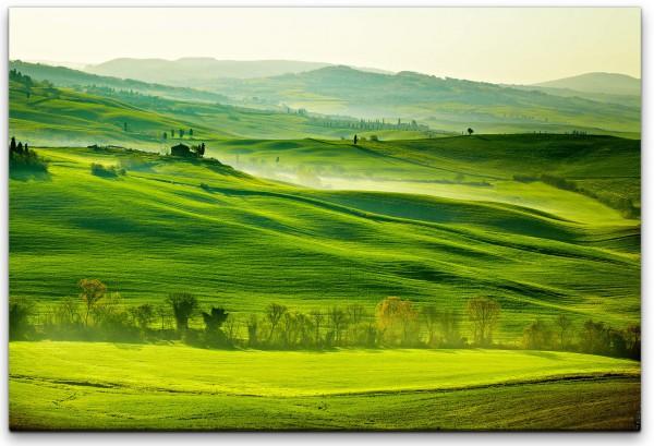 grüne Toskanalandschaft Wandbild in verschiedenen Größen