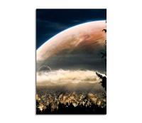 Planets Behind the Church Fantasy Art 90x60cm