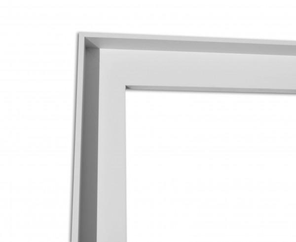 Schattenfuge XXL matt Weiß mit schmaler Sichtkante