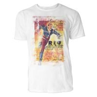 Rio Grande Herren T-Shirts in Karibik blau Cooles Fun Shirt mit tollen Aufdruck
