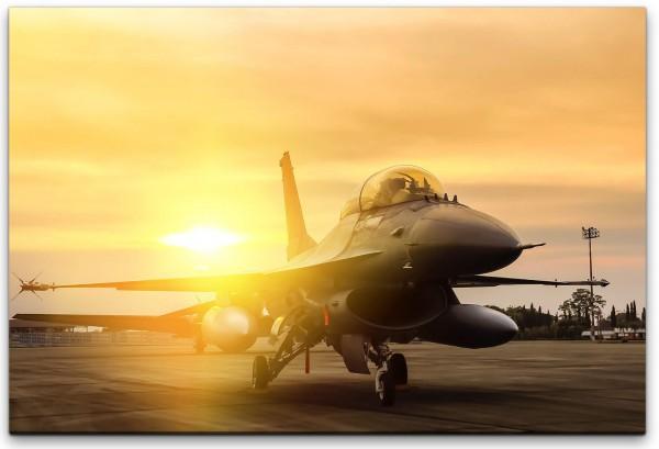 F16 Falcon Flugzeug Technik Wandbild in verschiedenen Größen