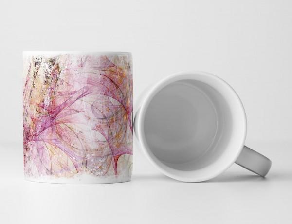 Tasse Geschenk Abstraktion rosa und pinkfarbenes Muster