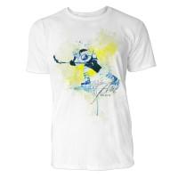Eishockeyspieler  Sinus Art ® T-Shirt Crewneck Tee with Frontartwork
