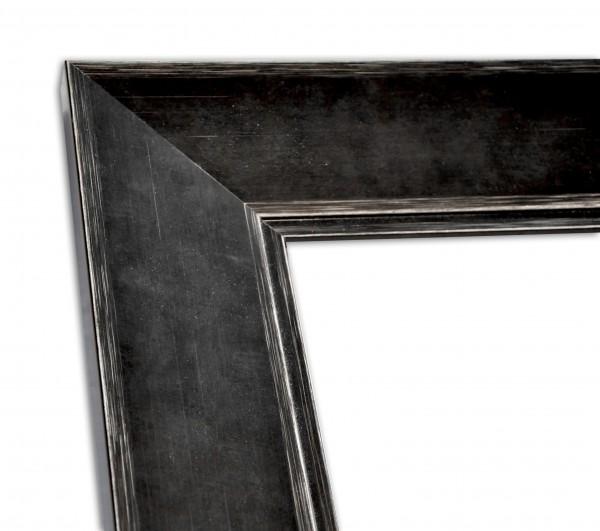 Breite Rahmenleiste in Schwarz Vintage-Optik