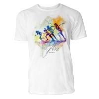 Sprinter Startschuss Sinus Art ® T-Shirt Crewneck Tee with Frontartwork