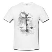 Waage Herren und Damen T-Shirt BLACK-WHITE