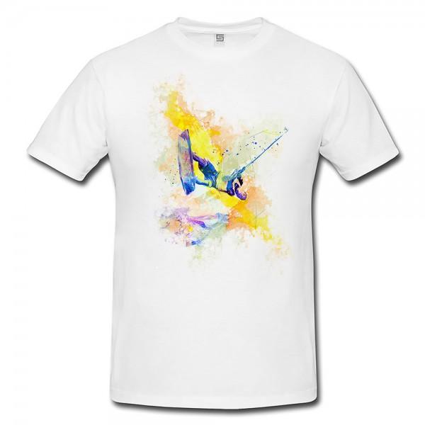 Wakeboard  Herren und Damen T-Shirt Sport Motiv aus Paul Sinus Aquarell