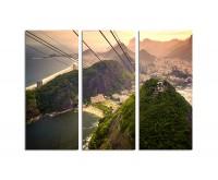 130x90cm Seilbahn Rio de Janeiro Panorama