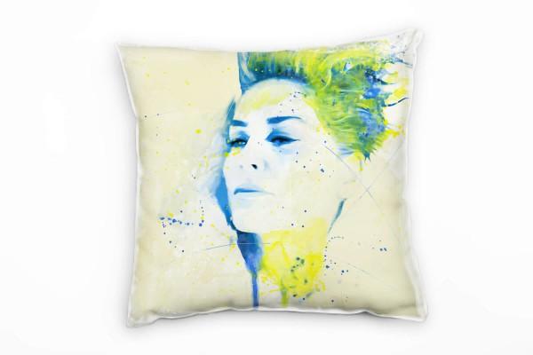 Sharon Stone V Deko Kissen Bezug 40x40cm für Couch Sofa Lounge Zierkissen