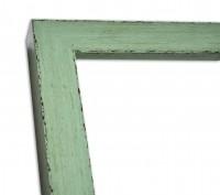 Blockleiste Graugrün im Landhausstil Vintage