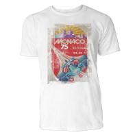 Monaco Herren T-Shirts in Karibik blau Cooles Fun Shirt mit tollen Aufdruck