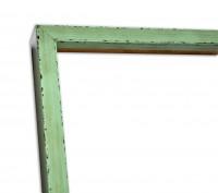 Rahmenleiste Graugrün im Landhausstil Vintage