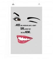 Poster in 60x90cm - Ein weises Mädchen kennt ihre Grenzen, ein cleveres Mädchen weiß, dass Sie keine