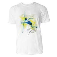 Hochsprung Frau Sinus Art ® T-Shirt Crewneck Tee with Frontartwork
