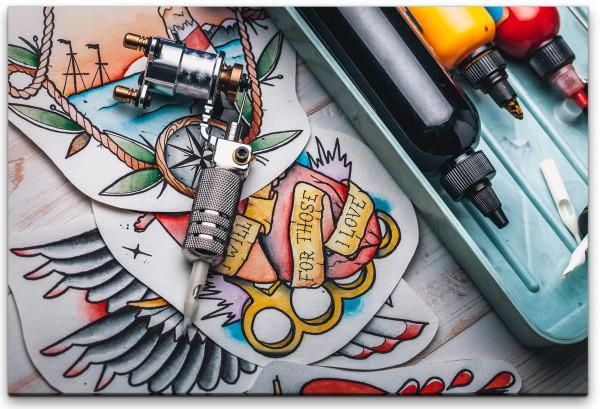 Tattoo Studio Wandbild in verschiedenen Größen