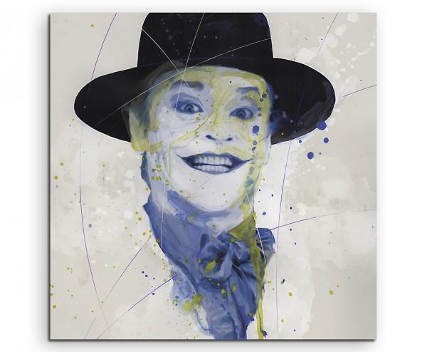 Jack Nicholson Joker Splash 60x60cm Kunstbild als Aquarell auf Leinwand