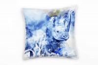 Rhinos Deko Kissen Bezug 40x40cm für Couch Sofa Lounge Zierkissen