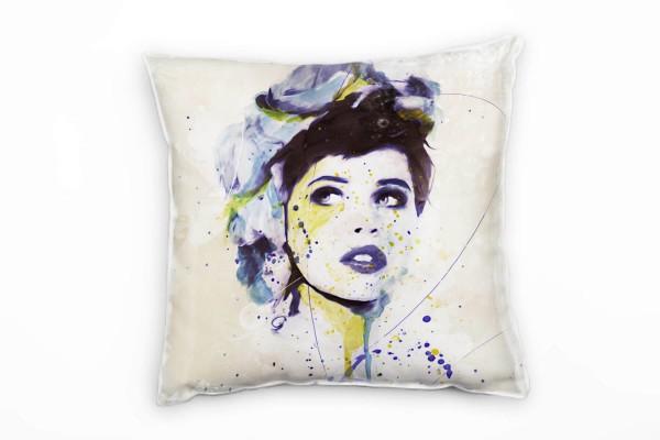 Adriana Deko Kissen Bezug 40x40cm für Couch Sofa Lounge Zierkissen