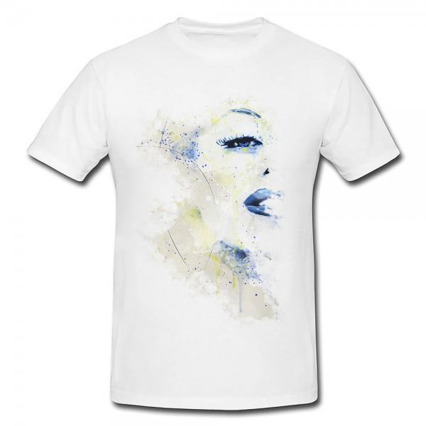 Marilyn Monroe III Premium Herren und Damen T-Shirt Motiv aus Paul Sinus Aquarell