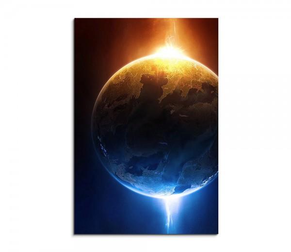 Glowing Planet Fantasy Art 90x60cm
