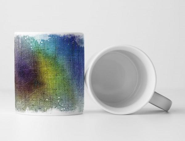 Tasse Geschenk Fassadenmuster in Regenbogenfarben