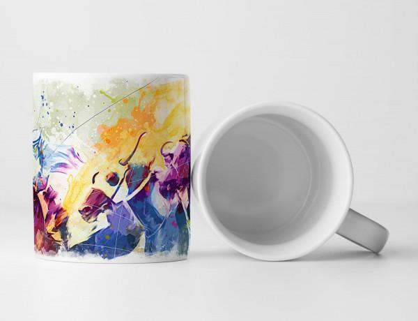 Pferderennen I Tasse als Geschenk, Design Sinus Art
