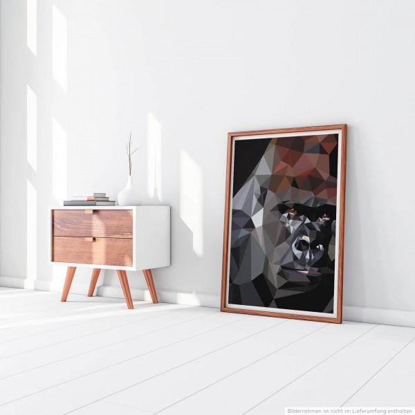 Bild – Low Poly Gorilla 60x90cm Poster