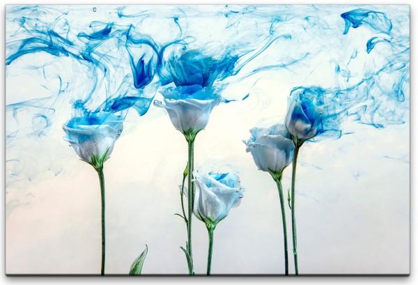 weiße Rosen Wandbild in verschiedenen Größen