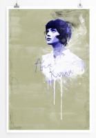 Anna Karina 90x60cm Paul Sinus Art Splash Art Wandbild als Poster ohne Rahmen gerollt