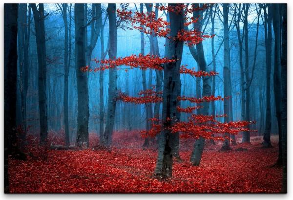 Nebel im Wald Wandbild in verschiedenen Größen